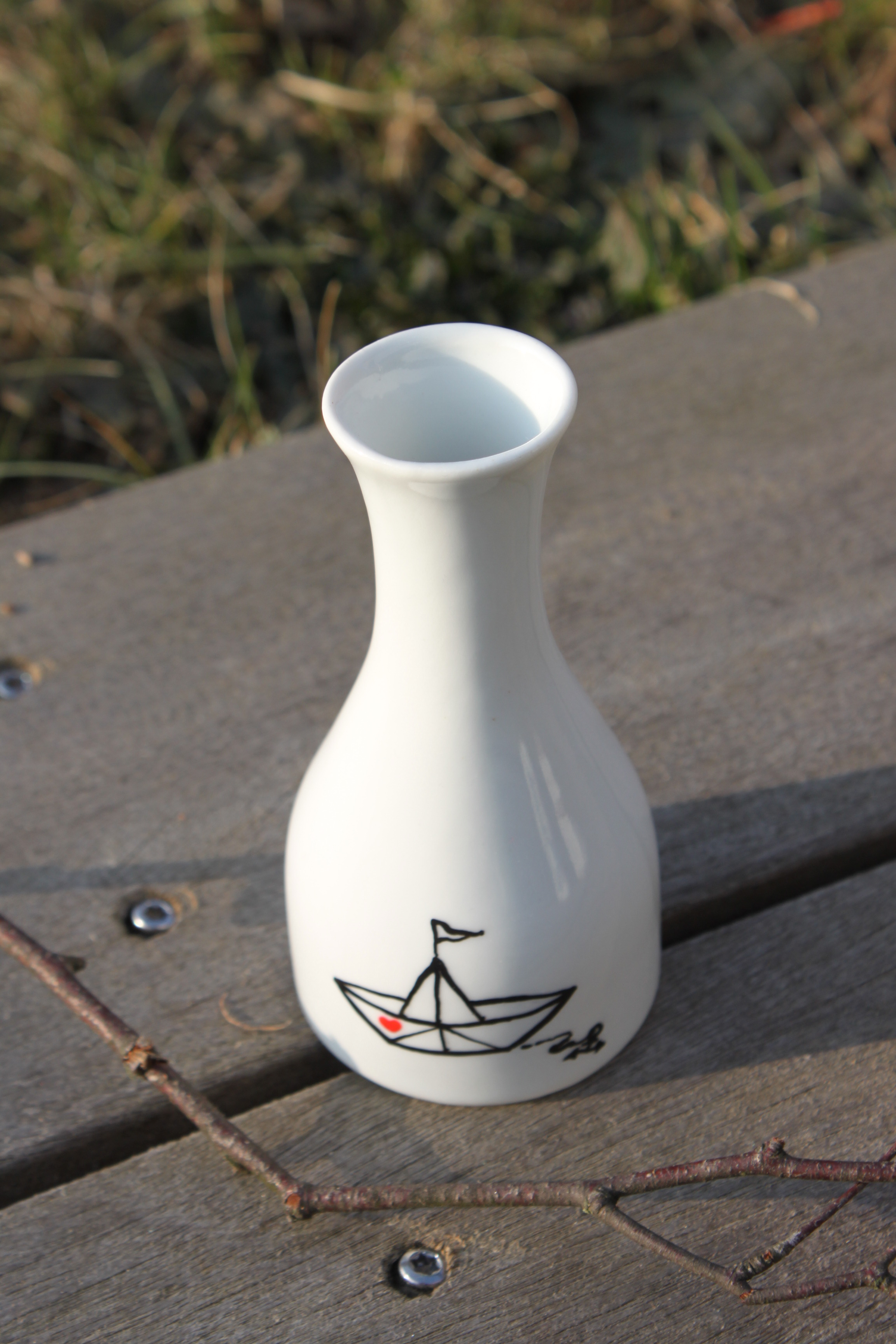 vase etagere teller gebohrt bohren maritim anker möwen ahoi